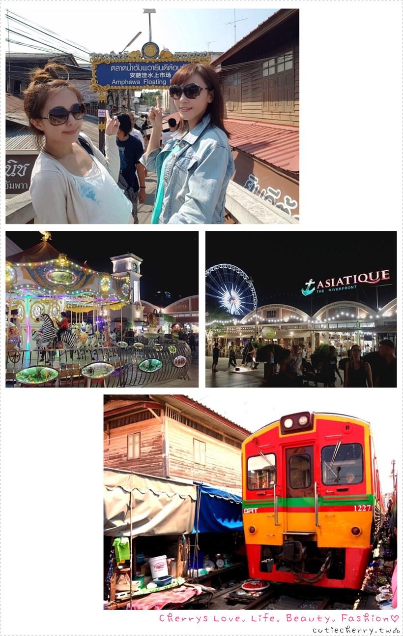 曼谷.一日遊|Mini Tour 一日遊♥美功鐵道市場 × 丹能莎朵水上市場 × 安帕瓦水上市場 × Asiatique 河畔碼頭夜市