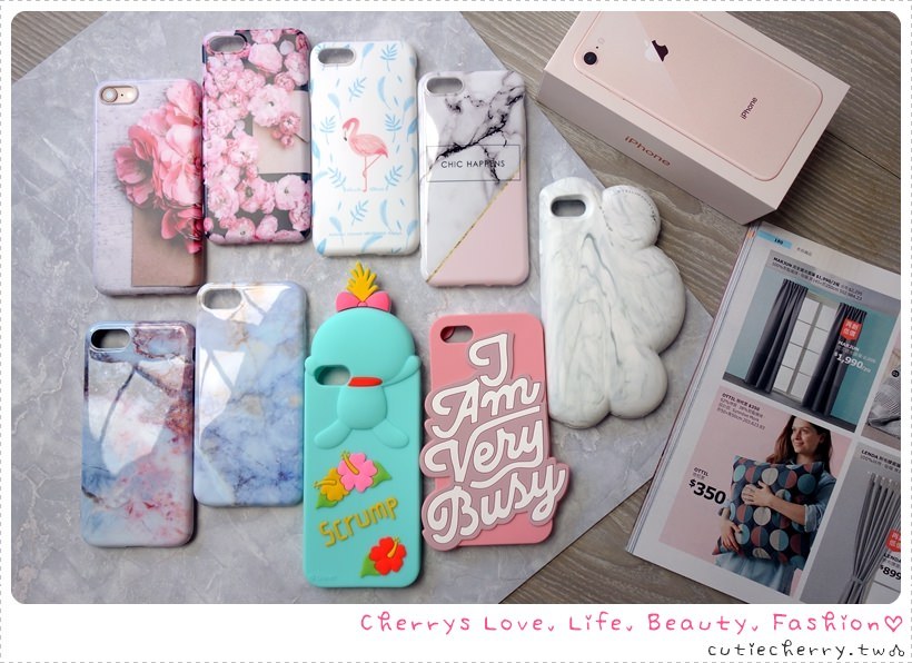 3C|iPhone 8 金色新入荷♥日韓歐美手機保護殼九款分享