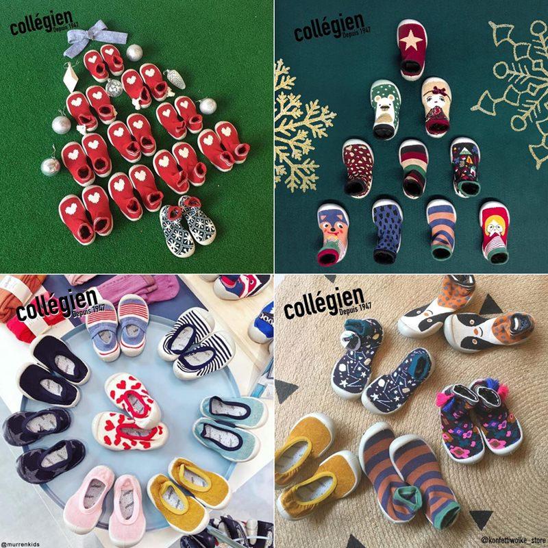 育兒.親子.團購|法國 Collegien 親子手工襪鞋,寶寶的第一雙保暖室內鞋♥
