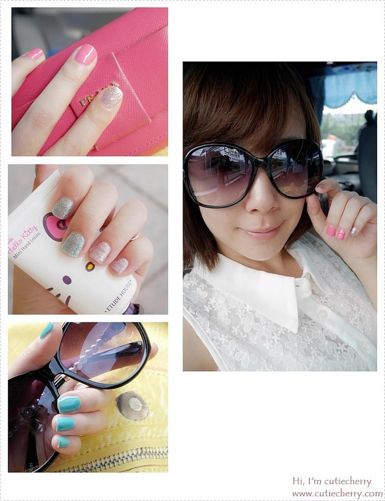 美甲★閃耀著貝殼虹光及璀璨光芒的夏季指尖♥ RIZZO 指彩凝膠